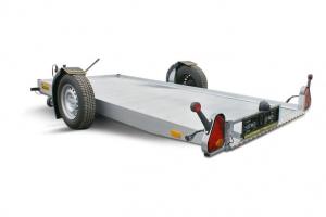 Absenkanhänger FB10 Nutzlast ca. 600 kg Abbildung mit Option Aluboden und Elektrischer Bedienung