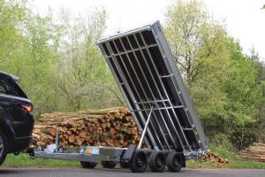 Hapert Cobalt HM-3 Tridem Dreiseitenkipper mit Parabelfederung und elektrischer Bedienung, gebremst 4.050 x 2.000 mm, 3.500 kg ( 3,5 to ) Anhängerpark Salzburg