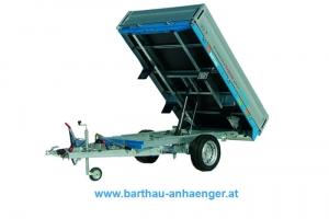 Barthau RT1501 Einachs Rückwärtskipper gebremst 2.510 x 1.560 mm, 1.500 kg ( 1,5 to )  Anhängerpark Salzburg