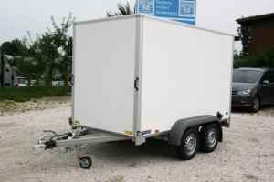 Saris FW 2000 Tandem Kofferanhänger gebremst 3.060 x 1.540 mm, Innenhöhe 1.800 mm, 2.000 kg ( 2,00 to ) mit Doppelflügeltüre - Anhängerpark Salzburg