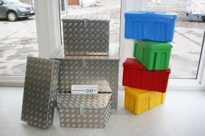 Aluboxen und Kunststoffboxen kaufen im Anhängerpark Salzburg Christian Huemer