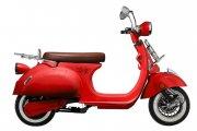 Elektroroller EV 2000 in rot glänzend mit Zubehör: Gepäckträger vorne und hinten