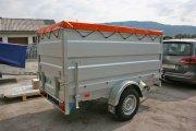 Orange Flachplane auf Barthau Anhänger QL1801 inkl. Aufsatzbordwände